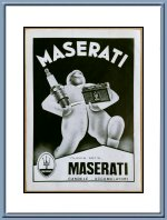 Vintage 1948 Maserati Candele and Accumulatori Advertisement