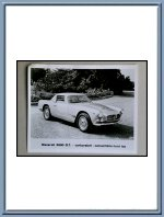Vintage Maserati 3500 GT Vignale Spyder Press Photo